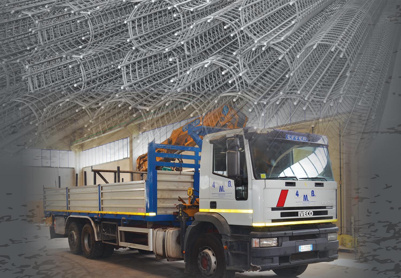 Trasporto acciaio per cemento armato Latina e Provincia